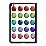 Button Icon About Colorful Shiny Apple iPad Mini Case (Black) Front
