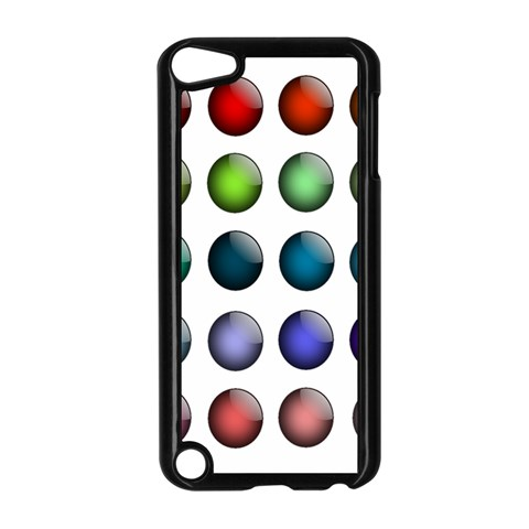 Button Icon About Colorful Shiny Apple iPod Touch 5 Case (Black)