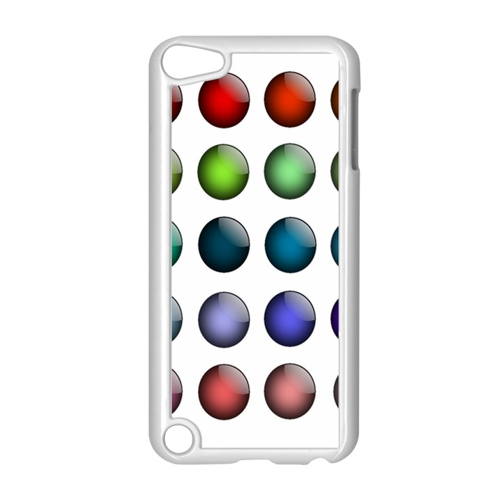 Button Icon About Colorful Shiny Apple iPod Touch 5 Case (White)
