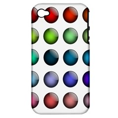 Button Icon About Colorful Shiny Apple iPhone 4/4S Hardshell Case (PC+Silicone)