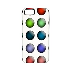 Button Icon About Colorful Shiny Apple iPhone 5 Classic Hardshell Case (PC+Silicone)