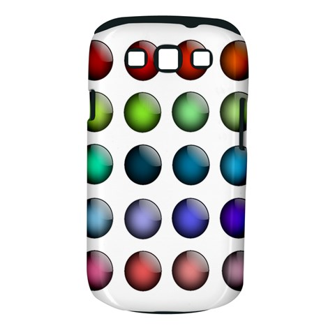 Button Icon About Colorful Shiny Samsung Galaxy S III Classic Hardshell Case (PC+Silicone)