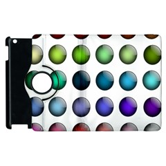 Button Icon About Colorful Shiny Apple iPad 2 Flip 360 Case