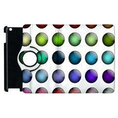 Button Icon About Colorful Shiny Apple iPad 3/4 Flip 360 Case