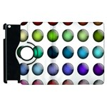 Button Icon About Colorful Shiny Apple iPad 3/4 Flip 360 Case Front