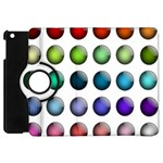 Button Icon About Colorful Shiny Apple iPad Mini Flip 360 Case Front