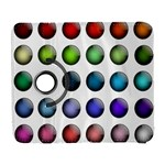 Button Icon About Colorful Shiny Samsung Galaxy S  III Flip 360 Case Front