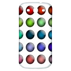 Button Icon About Colorful Shiny Samsung Galaxy S3 S III Classic Hardshell Back Case