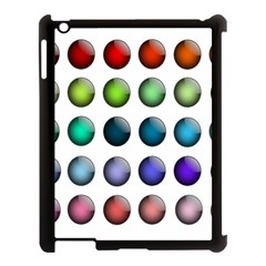 Button Icon About Colorful Shiny Apple iPad 3/4 Case (Black)