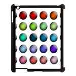 Button Icon About Colorful Shiny Apple iPad 3/4 Case (Black) Front