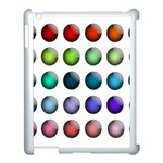 Button Icon About Colorful Shiny Apple iPad 3/4 Case (White) Front