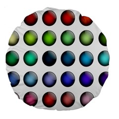 Button Icon About Colorful Shiny Large 18  Premium Round Cushions