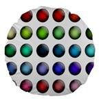 Button Icon About Colorful Shiny Large 18  Premium Round Cushions Back
