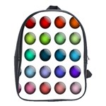 Button Icon About Colorful Shiny School Bags (XL)  Front