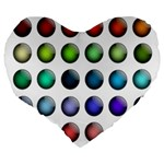 Button Icon About Colorful Shiny Large 19  Premium Heart Shape Cushions Back