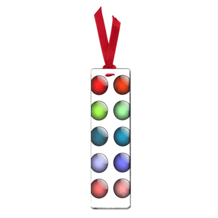 Button Icon About Colorful Shiny Small Book Marks