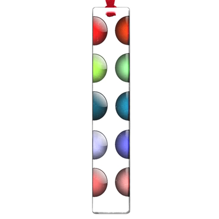 Button Icon About Colorful Shiny Large Book Marks
