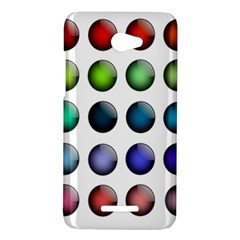 Button Icon About Colorful Shiny HTC Butterfly X920E Hardshell Case