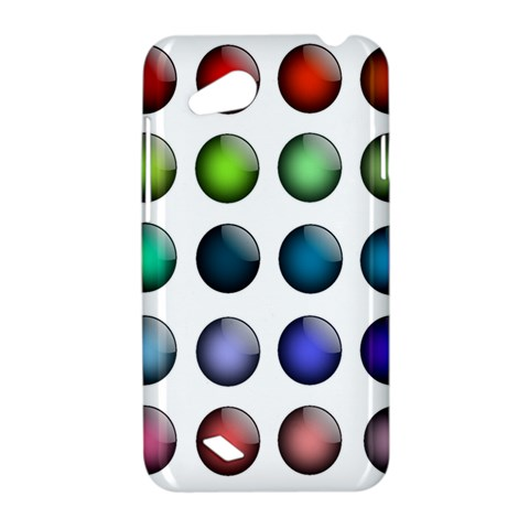Button Icon About Colorful Shiny HTC Desire VC (T328D) Hardshell Case