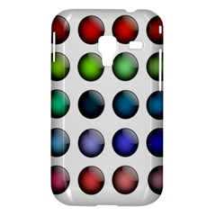 Button Icon About Colorful Shiny Samsung Galaxy Ace Plus S7500 Hardshell Case