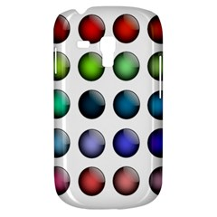 Button Icon About Colorful Shiny Samsung Galaxy S3 MINI I8190 Hardshell Case