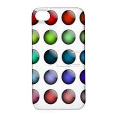 Button Icon About Colorful Shiny Apple iPhone 4/4S Hardshell Case with Stand