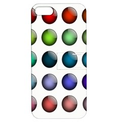Button Icon About Colorful Shiny Apple iPhone 5 Hardshell Case with Stand