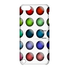 Button Icon About Colorful Shiny Apple iPod Touch 5 Hardshell Case with Stand