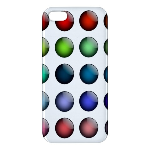 Button Icon About Colorful Shiny Apple iPhone 5 Premium Hardshell Case