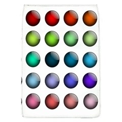 Button Icon About Colorful Shiny Flap Covers (L)