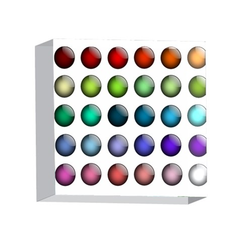 Button Icon About Colorful Shiny 4 x 4  Acrylic Photo Blocks