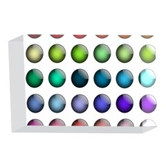 Button Icon About Colorful Shiny 4 x 6  Acrylic Photo Blocks