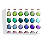Button Icon About Colorful Shiny 4 x 6  Acrylic Photo Blocks Front