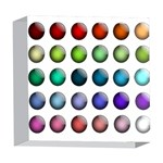 Button Icon About Colorful Shiny 5  x 5  Acrylic Photo Blocks Front