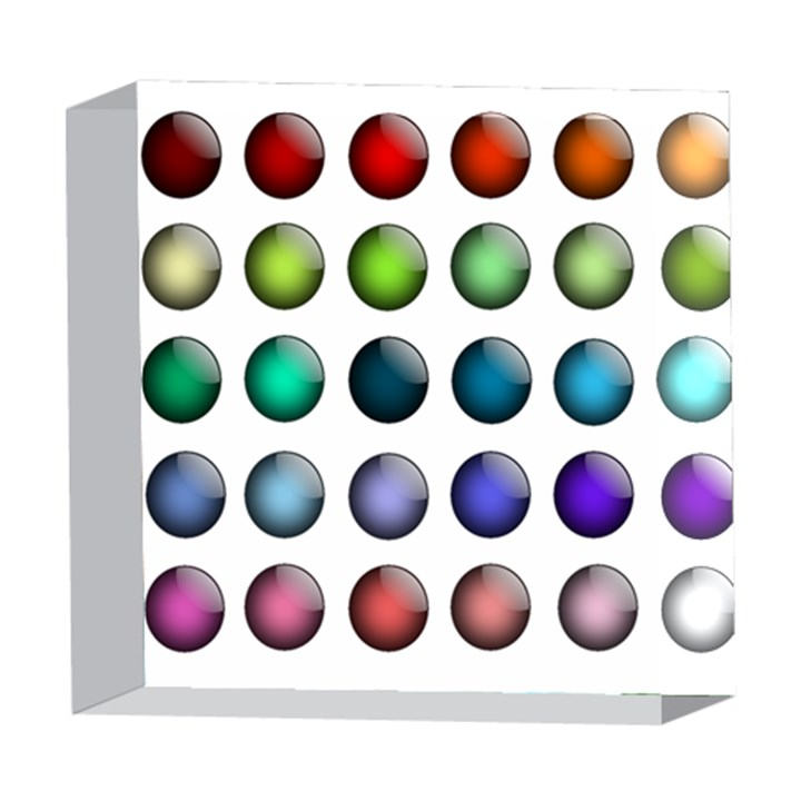 Button Icon About Colorful Shiny 5  x 5  Acrylic Photo Blocks