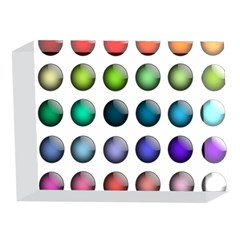 Button Icon About Colorful Shiny 5 x 7  Acrylic Photo Blocks
