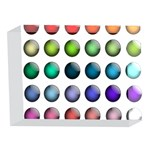Button Icon About Colorful Shiny 5 x 7  Acrylic Photo Blocks Front