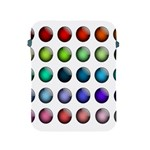Button Icon About Colorful Shiny Apple iPad 2/3/4 Protective Soft Cases Front