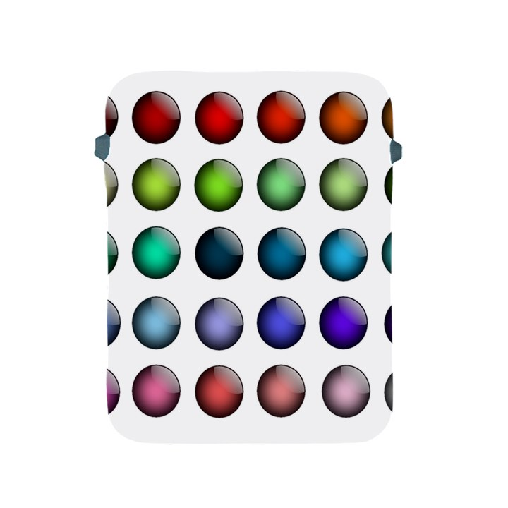 Button Icon About Colorful Shiny Apple iPad 2/3/4 Protective Soft Cases