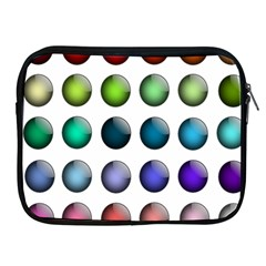 Button Icon About Colorful Shiny Apple iPad 2/3/4 Zipper Cases
