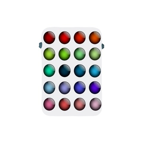 Button Icon About Colorful Shiny Apple iPad Mini Protective Soft Cases