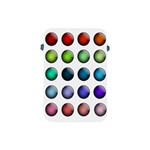 Button Icon About Colorful Shiny Apple iPad Mini Protective Soft Cases Front
