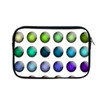 Button Icon About Colorful Shiny Apple iPad Mini Zipper Cases Front