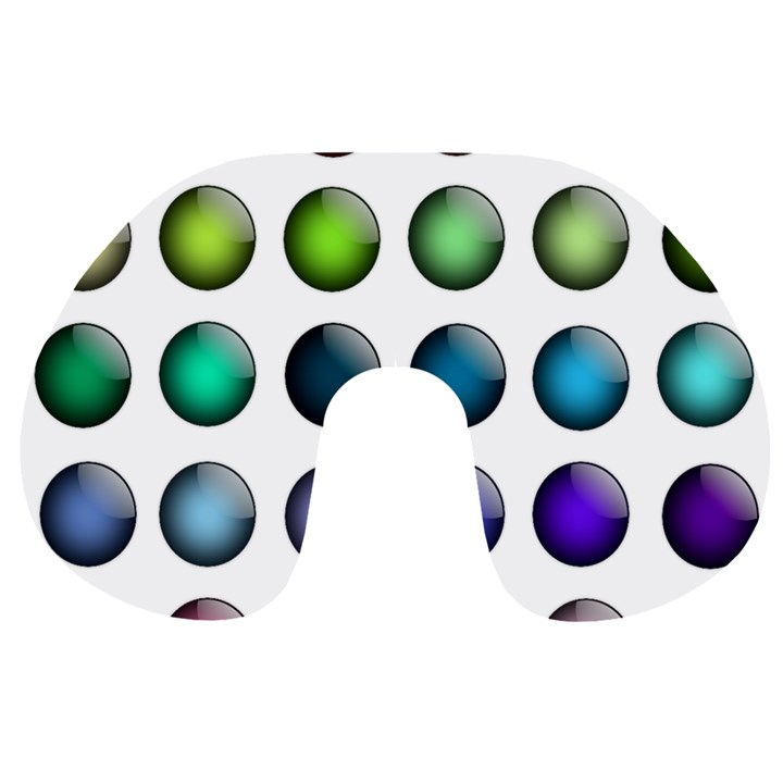 Button Icon About Colorful Shiny Travel Neck Pillows