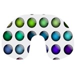 Button Icon About Colorful Shiny Travel Neck Pillows Back