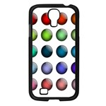 Button Icon About Colorful Shiny Samsung Galaxy S4 I9500/ I9505 Case (Black) Front