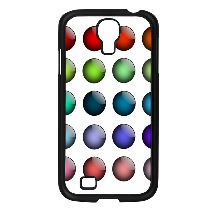 Button Icon About Colorful Shiny Samsung Galaxy S4 I9500/ I9505 Case (Black)