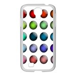 Button Icon About Colorful Shiny Samsung GALAXY S4 I9500/ I9505 Case (White) Front