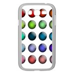 Button Icon About Colorful Shiny Samsung Galaxy Grand DUOS I9082 Case (White) Front