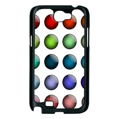 Button Icon About Colorful Shiny Samsung Galaxy Note 2 Case (Black)